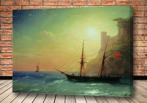 Картина Берег моря 1861