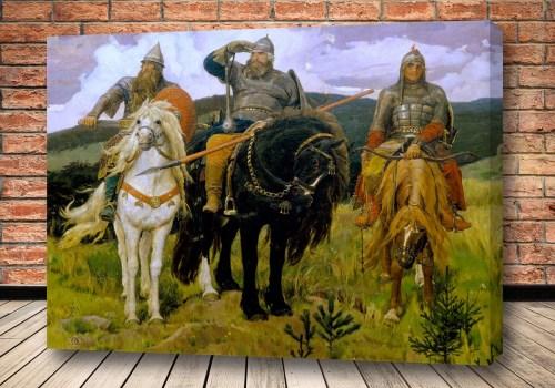 Картина Три богатыря Васнецова