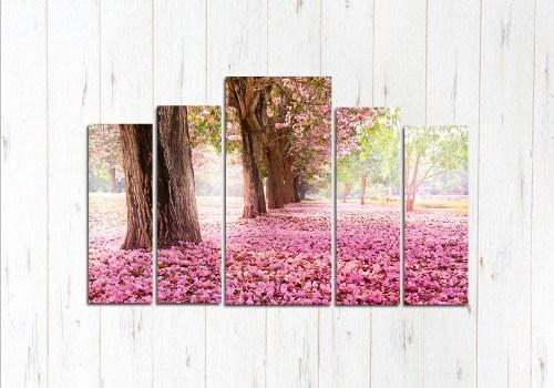 Модульная картина Земля цветёт