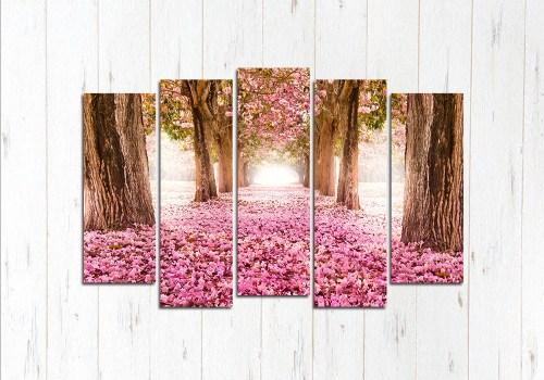 Модульная картина Розовая дорога