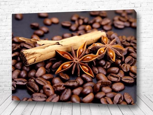 Постер кофейные зерна