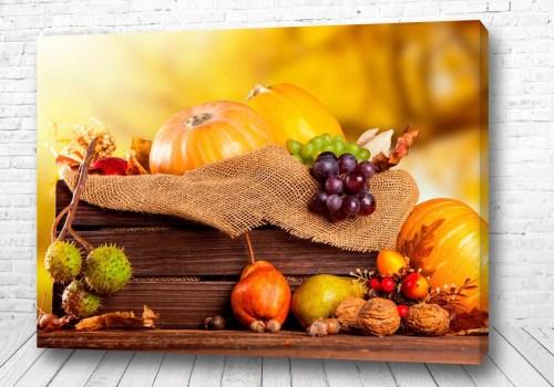 Постер Осенний натюрморт с тыквой