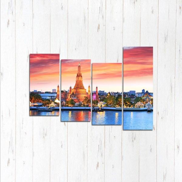 Модульная картина Рассвет в Бангкоке