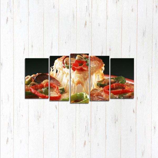 Модульная картина Горячая пицца