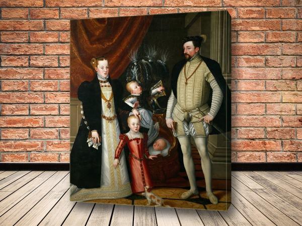 Картины Максимилиан II с супругой