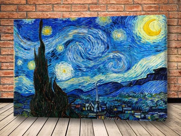 Картина Звездная ночь Ван Гог