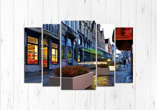 Модульная картина Улицы Брюггер