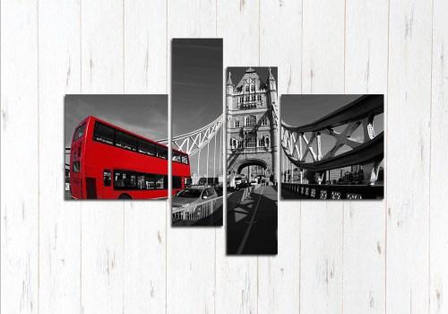 Модульная картина Автобус в Лондоне