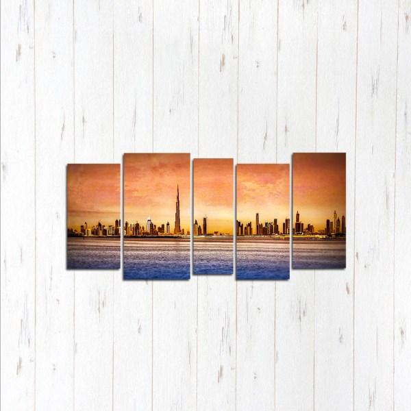Модульная картина Дубай закат