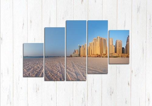 Модульная картина Город в песках