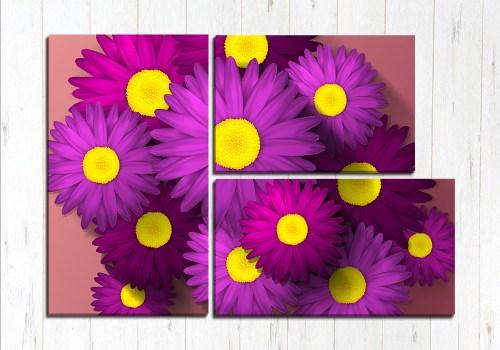 Модульная картина Фиолетовая красота