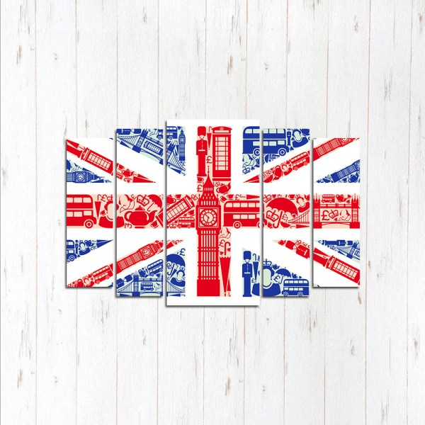 Модульная картина Англия флаг