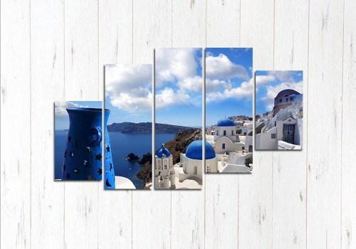 Модульная картина Санторини прекрасен