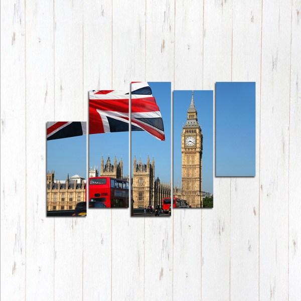 Модульная картина Англия и флаг