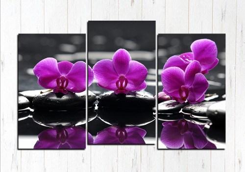 Модульная картина Фиолетовый релакс