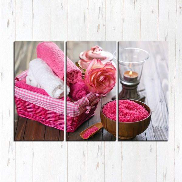 Модульная картина Розовое спа