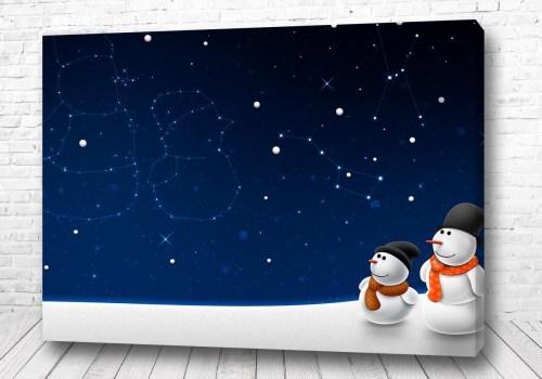 Постер Два снеговика
