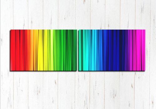 Модульная картина Радуга цвета