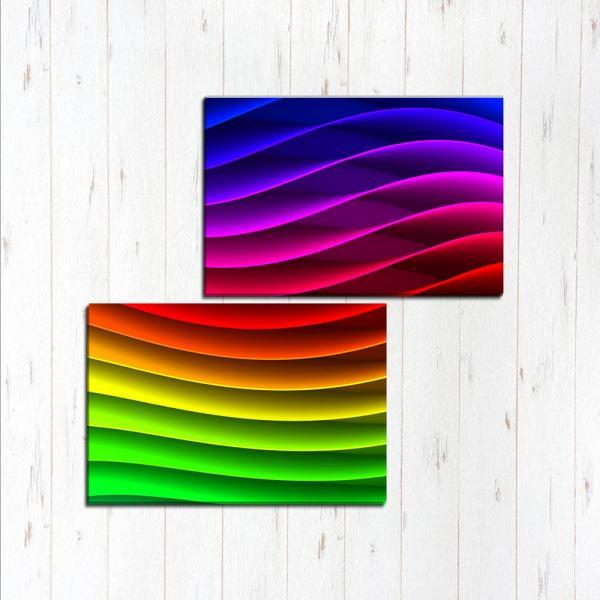Модульная картина Волнистая радуга