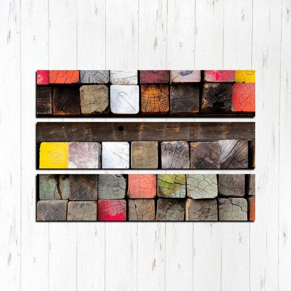 Модульная картина Абстрактные кубики