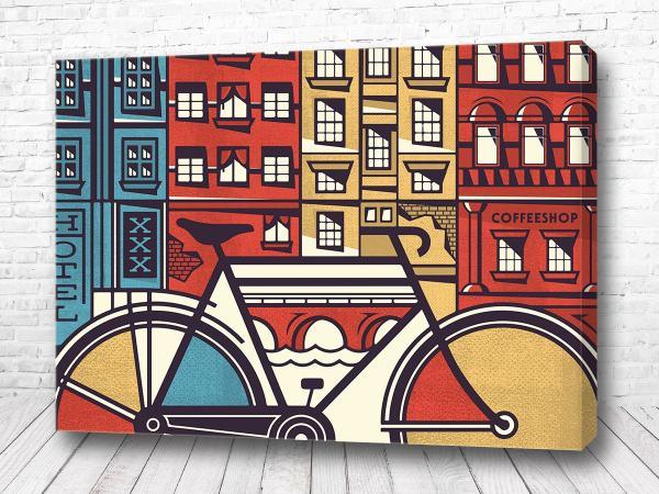 Постер Велосипед на улице