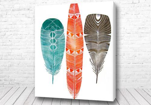 Постер Скандинавские перья