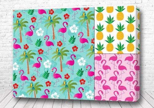 Постер Фламинго ананас