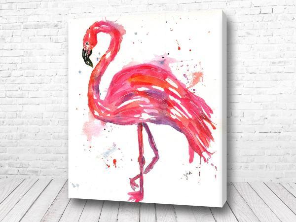 Постер Фламинго розовый