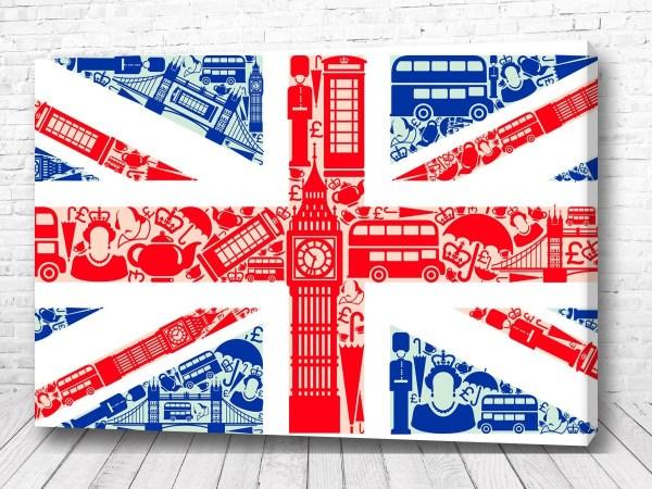 Постер Флаг символ Англии