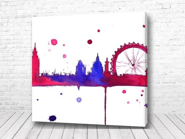 Постер Лондон акварель