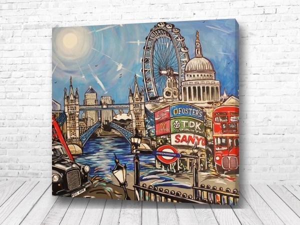 Постер Лондон на ладони