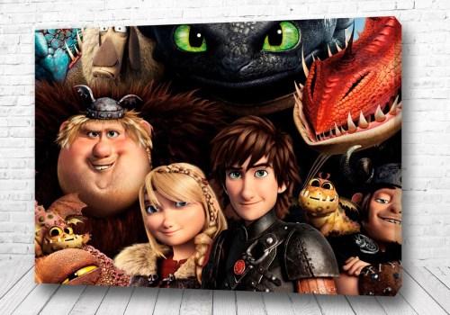 Постер все герои как приручить дракона