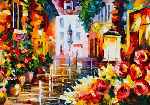 Картина Цветущая улочка