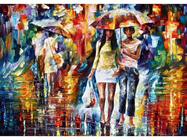 Картина Подружки под зонтом