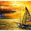 Картина Яхта на рассвете