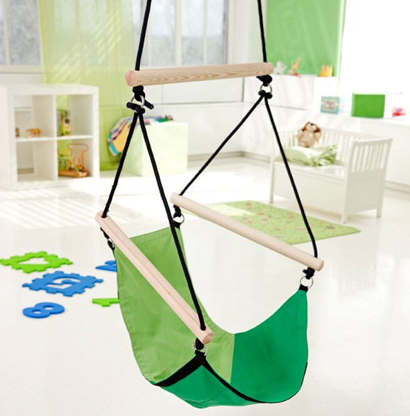 Hangstoel Voor Kinderen.Amazonas Kid S Swinger Green Hangstoel