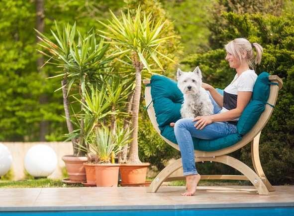 Amazonas Siena Uno Green Weatherproof tuinstoel