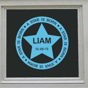 raamsticker a star is born