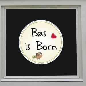 raamsticker born jongen