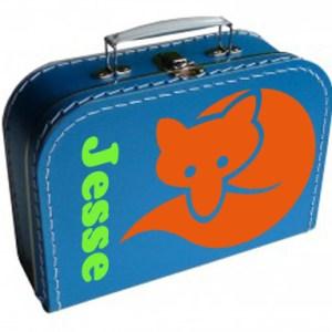 koffertje met vosje en naam
