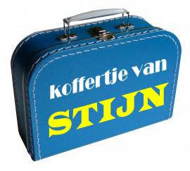 koffertje van...met naam