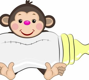 geboortebord aap