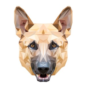 muursticker diamond herdershond