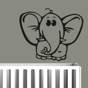 muursticker olifant baby