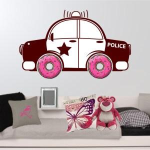 muursticker politiewagen