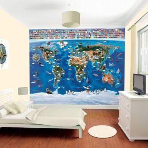 oosterbehang wereldkaart