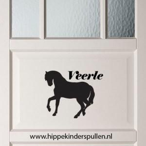 muursticker naam paard