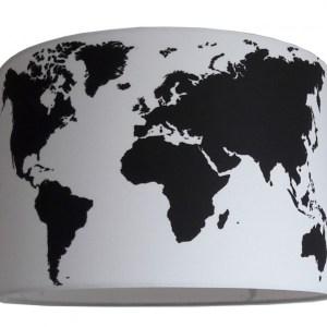 kinderlamp wereld zwart wit