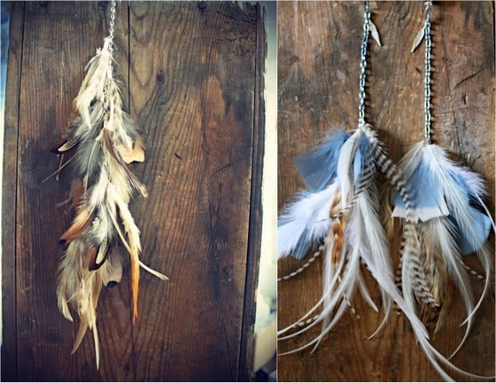 Etsy Finds feather earrings