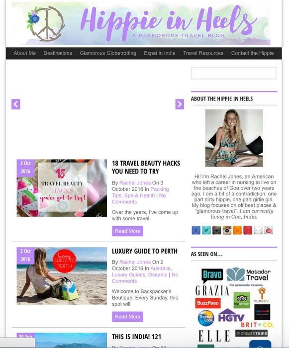 Screenshot old theme blog